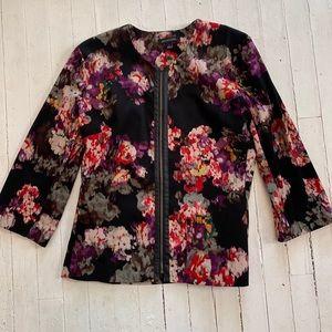 Floral bomber type jacket